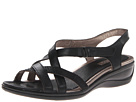 ECCO - Sensata Cross Strap Sandal (Black/Black Feather/Clodine) -