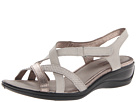 ECCO - Sensata Cross Strap Sandal (Moon Rock/Warm Grey Metallic/Gravel Clodine) -