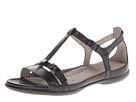ECCO - Flash T-Strap Sandal (Black Dress) -
