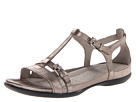 ECCO - Flash T-Strap Sandal (Warm Grey Metallic Lexi) -