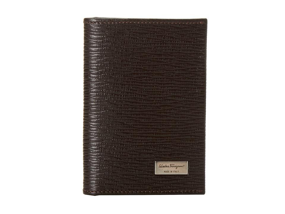 Salvatore Ferragamo - Revival Lux Credit Card Case (Fondente) Credit card Wallet