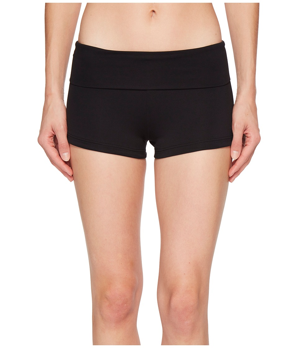 Seafolly Roll Top Boyleg (Black)