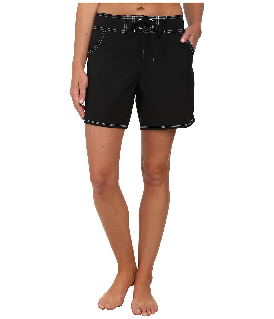Seafolly Barracuda Boardshort Mid Length Black Womens Swimwear