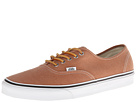Vans - Authentic ((Brushed Twill) Leather Brown) -
