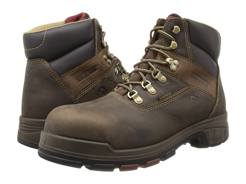 Wolverine Cabor EPX PC Dry Waterproof 6 Boot Composite Toe (Dark Brown) Men