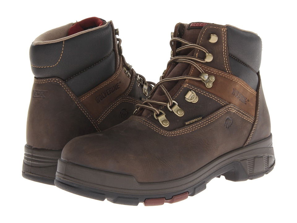 Wolverine Cabor EPX PC Dry Waterproof 6 Boot Soft Toe (Dark Brown) Men