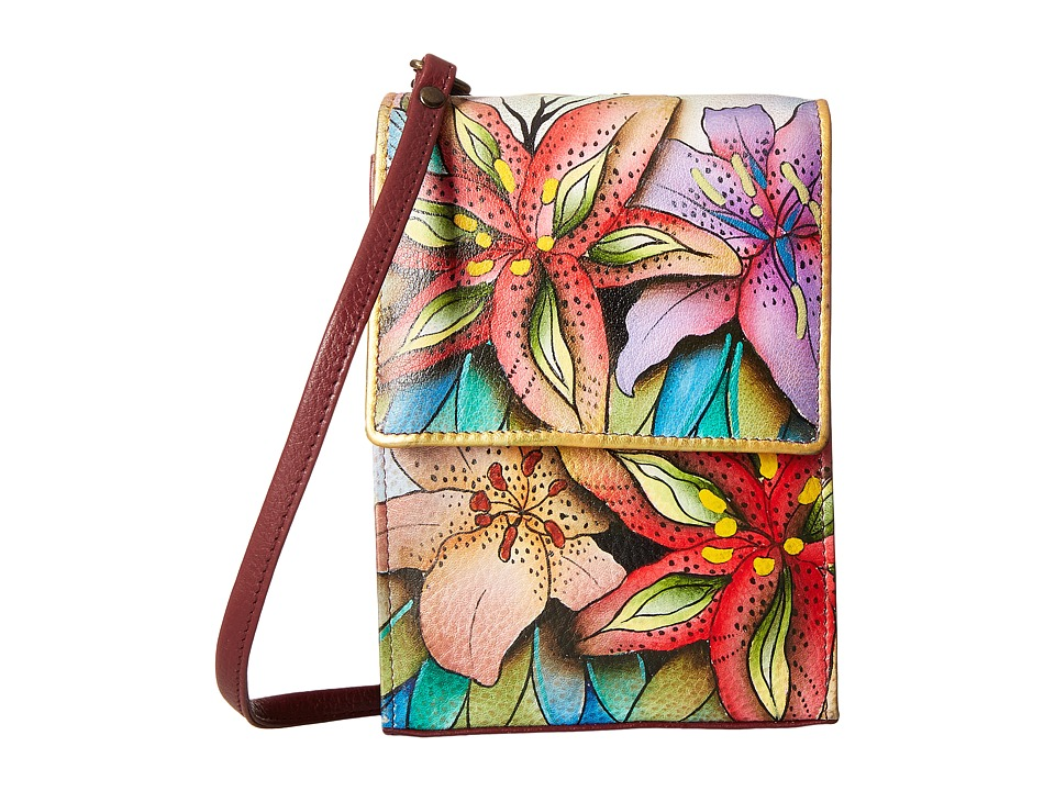 Anuschka Handbags - 412 (Luscious Lilies) Cross Body Handbags