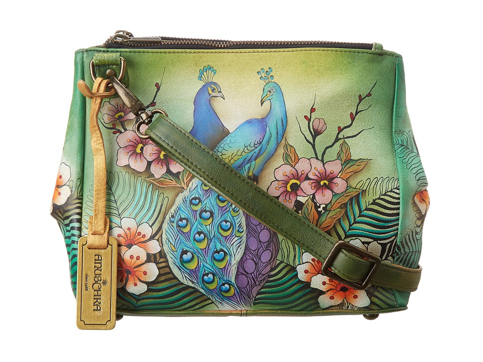 Anuschka Handbags - 525 (Passionate Peacocks) Cross Body Handbags