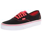 Vans - Authentic ((Pop) Black/Neon Red) -