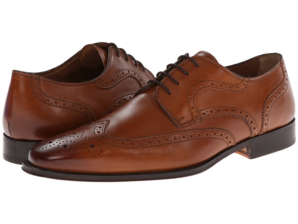 Florsheim - Classico Wing Ox Cognac Mens Lace Up Wing Tip Shoes $190.00 AT vintagedancer.com