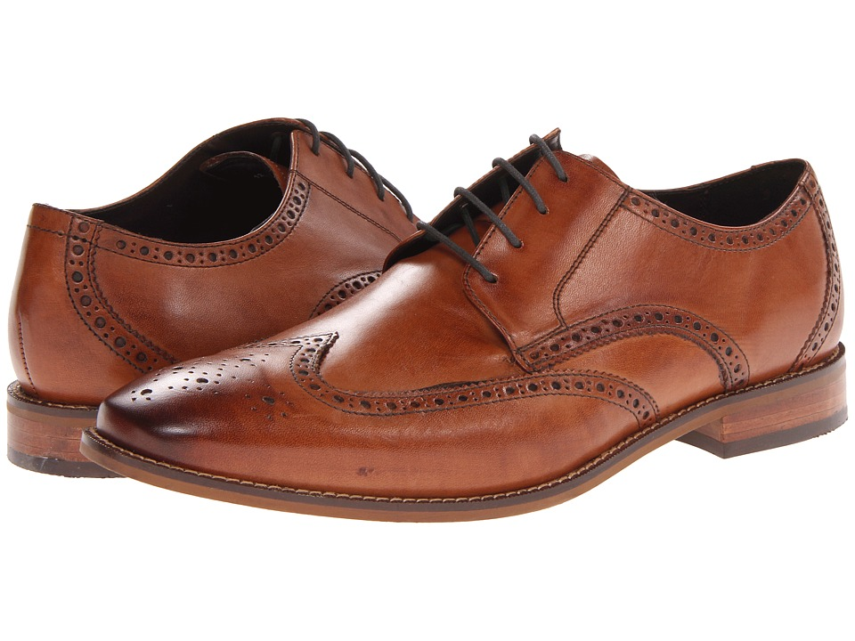 Mens Vintage Style Shoes| Retro Classic Shoes Florsheim - Castellano Wingtip Oxford Saddle Tan Mens Lace Up Wing Tip Shoes $109.95 AT vintagedancer.com