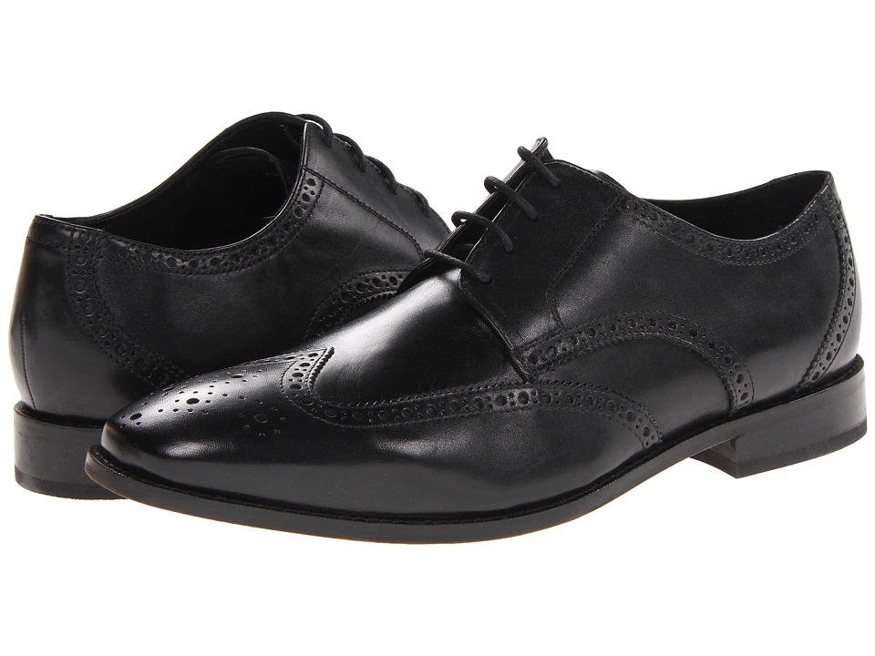 Mens Vintage Style Shoes| Retro Classic Shoes Florsheim - Castellano Wingtip Oxford Black Mens Lace Up Wing Tip Shoes $109.95 AT vintagedancer.com