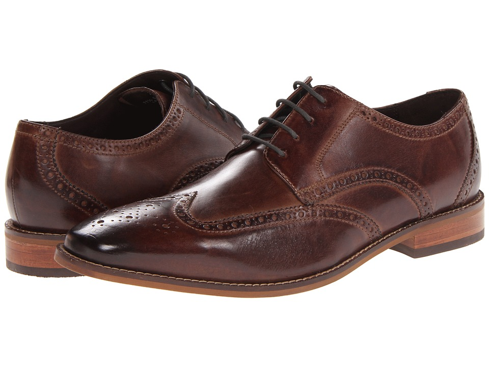 Florsheim - Castellano Wingtip Oxford Brown Mens Lace Up Wing Tip Shoes $130.00 AT vintagedancer.com