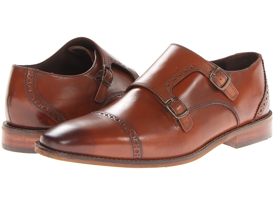 Florsheim Castellano Monk Strap Oxford (Saddle Tan) Men's...