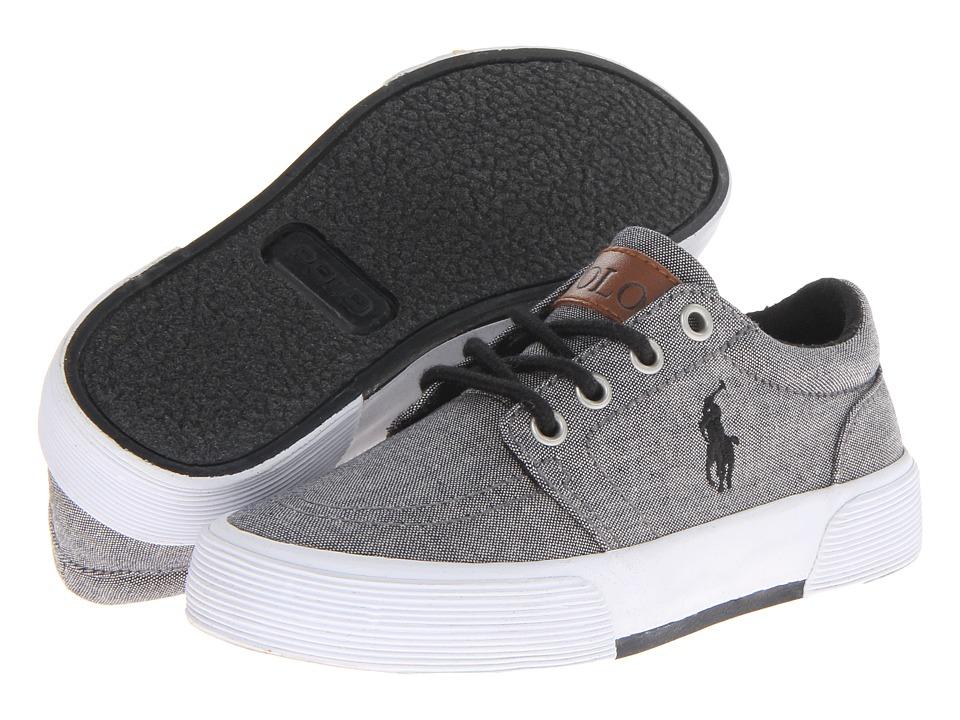 Polo Ralph Lauren Kids Faxon II (Little Kid) (Dark Grey Chambray) Boys Shoes