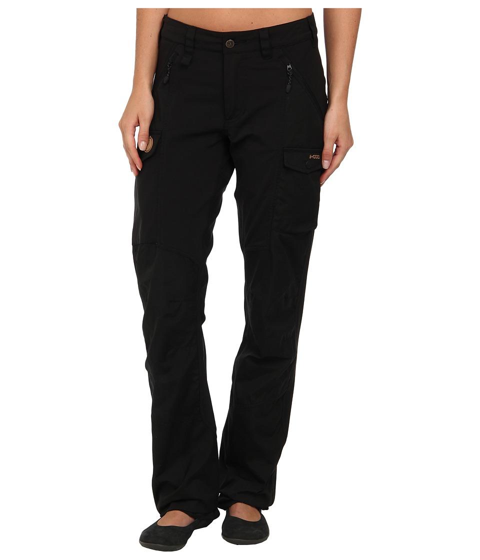 Fjallraven - Nikka Trousers (Black) Womens Casual Pants