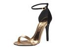 Alexander McQueen - Skinny Bi-Colour Heeled Sandal (Gold/Black) - Footwear