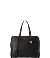 Alexander McQueen - Grainy Leather Skull Padlock Top Handle Bag Black