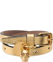 Alexander McQueen - Double Wrap Bracelet - Smooth Metallic