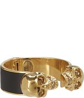 Alexander McQueen - Two Skull Metal/Leather Bracelet