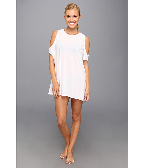 TYR - Huntington Beach Freestyle Cold Shoulder Tunic (White) - Apparel