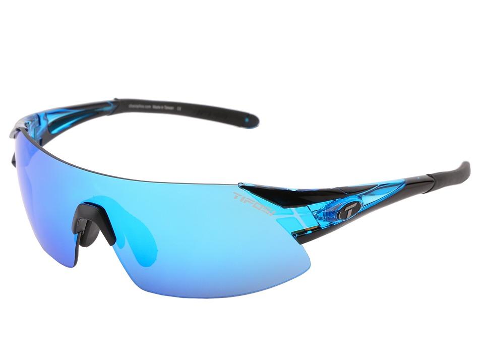 Tifosi Optics Podiumtm XC Mirrored Golf Interchangeable (Crystal Blue/Clarion Blue/GT/EC Lens) Athletic Performance Sport Sunglasses