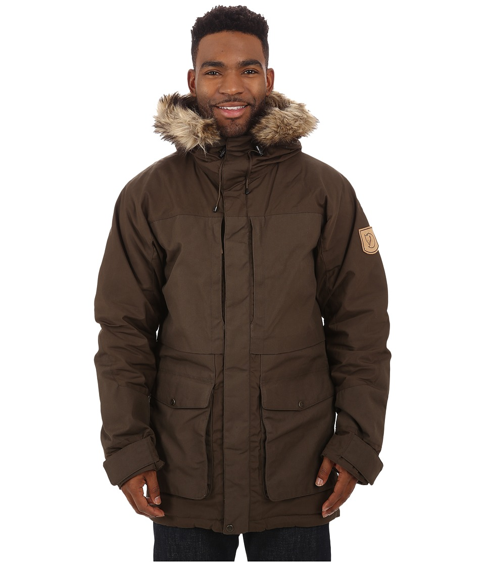 Fjallraven - Barents Parka (Dark Olive) Mens Coat