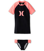 Hurley Kids - One & Only Solids Rashguard Top & Banded Pant (Big Kids)