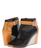 MM6 Maison Margiela - Colorblock Peep-Toe Wedges