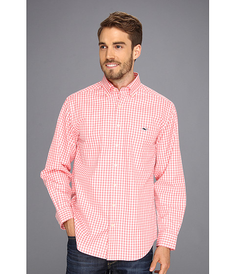 Vineyard Vines - Gingham Tucker Shirt (Bermuda Pink) - Apparel
