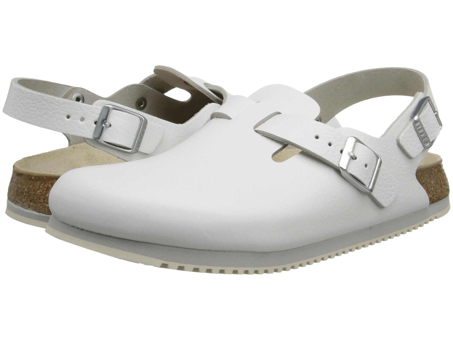 white birkenstock super grip clogs