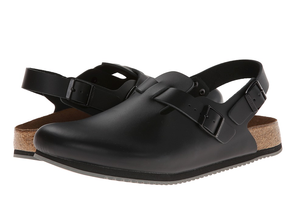 Birkenstock Tokyo Super Grip (Black Leather) Shoes