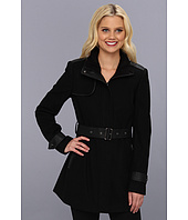 Sam Edelman - Wool Trench Coat w/ Sherpa Trim
