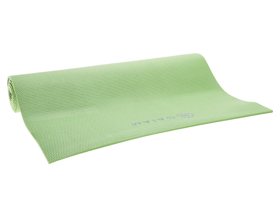 Gaiam - 5mm Premium Honeydew 2-Color Yoga Mat (Light Green) Athletic Sports Equipment
