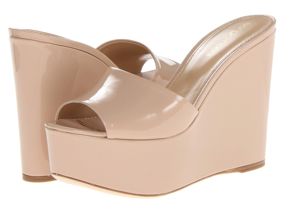 Sergio Rossi A49520 MVIV01 New Nude Womens Wedge Shoes
