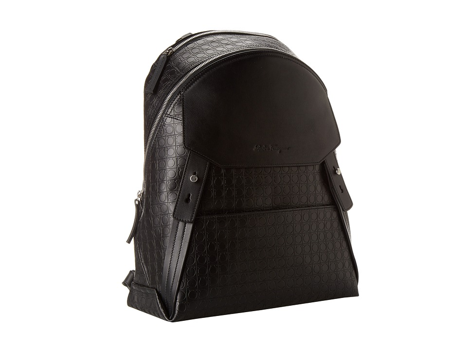 Salvatore Ferragamo - Gamma Soft Backpack (Deep Black) Backpack Bags