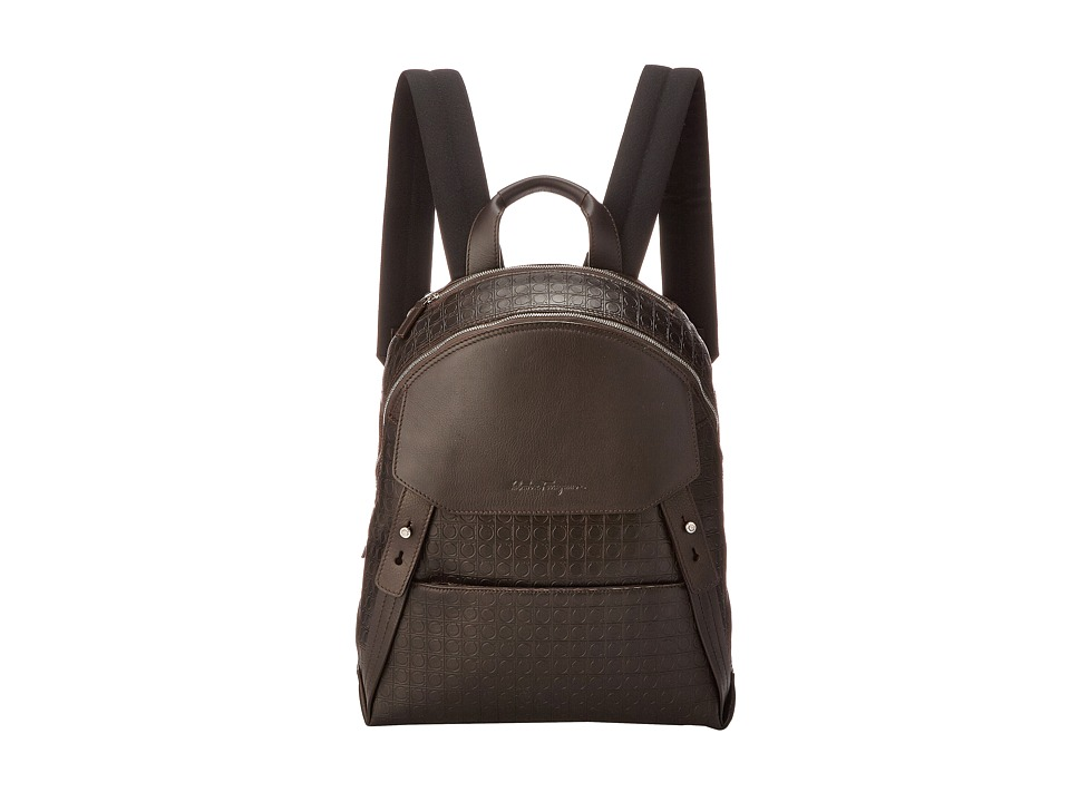 Salvatore Ferragamo - Gamma Soft Backpack (Caffe) Backpack Bags
