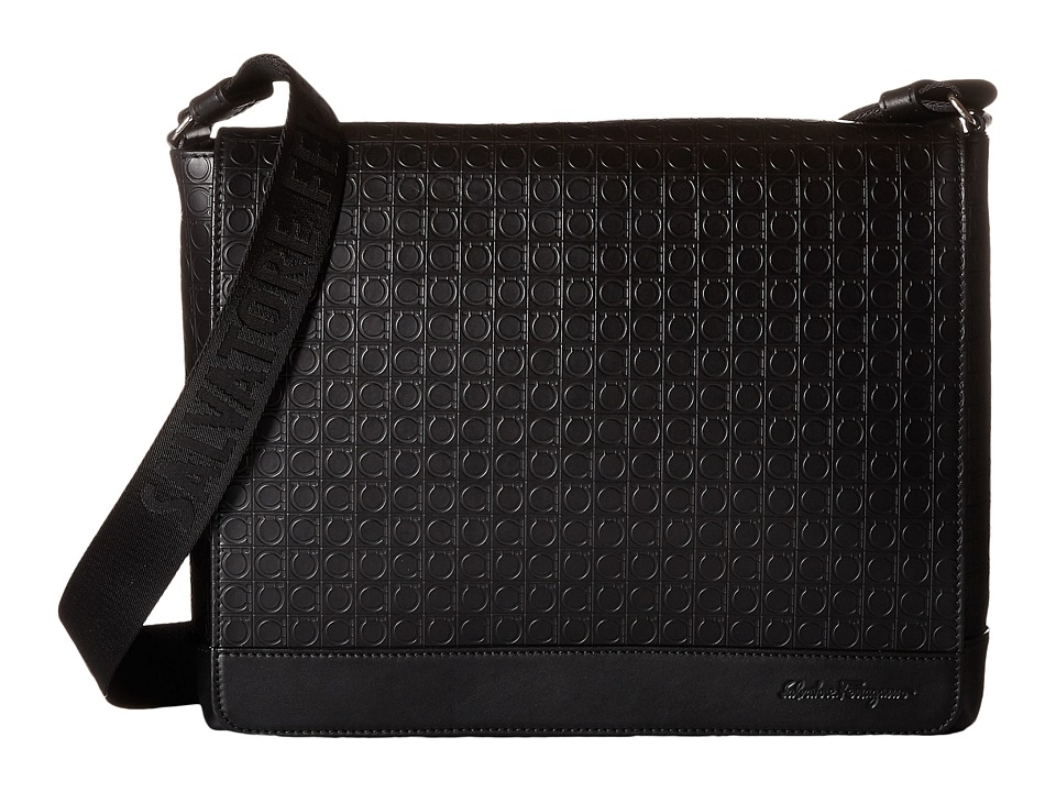 Salvatore Ferragamo - Gamma Soft Messenger (Deep Black) Messenger Bags