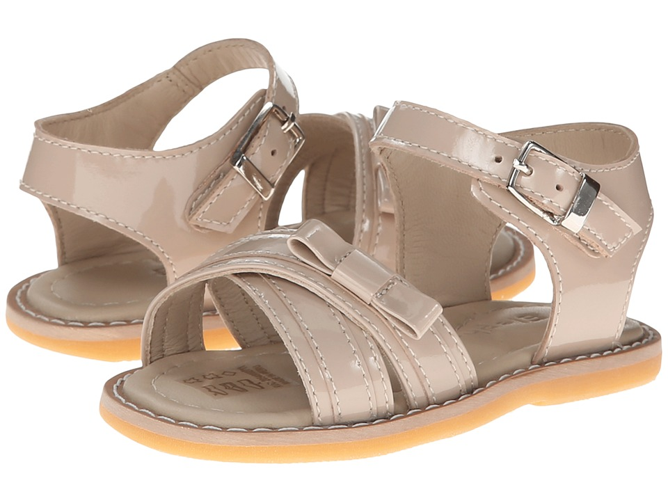 Elephantito - Lili Crossed Sandal w/Bow (Toddler) (Dusty Pink) Girls Shoes