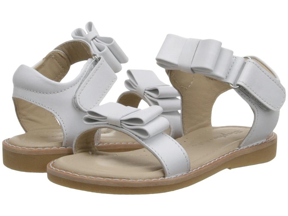 Elephantito Nicole Sandal (Toddler/Little Kid) (White) Girls Shoes