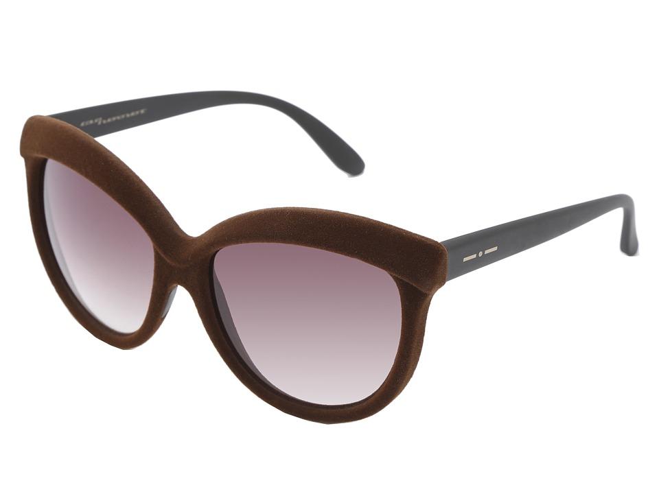 Italia Independent 0092V Brown Velvet Fashion Sunglasses