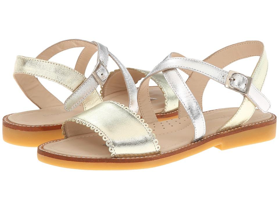 Elephantito Color Block Sandal Toddler/Little Kid Gold Girls Shoes