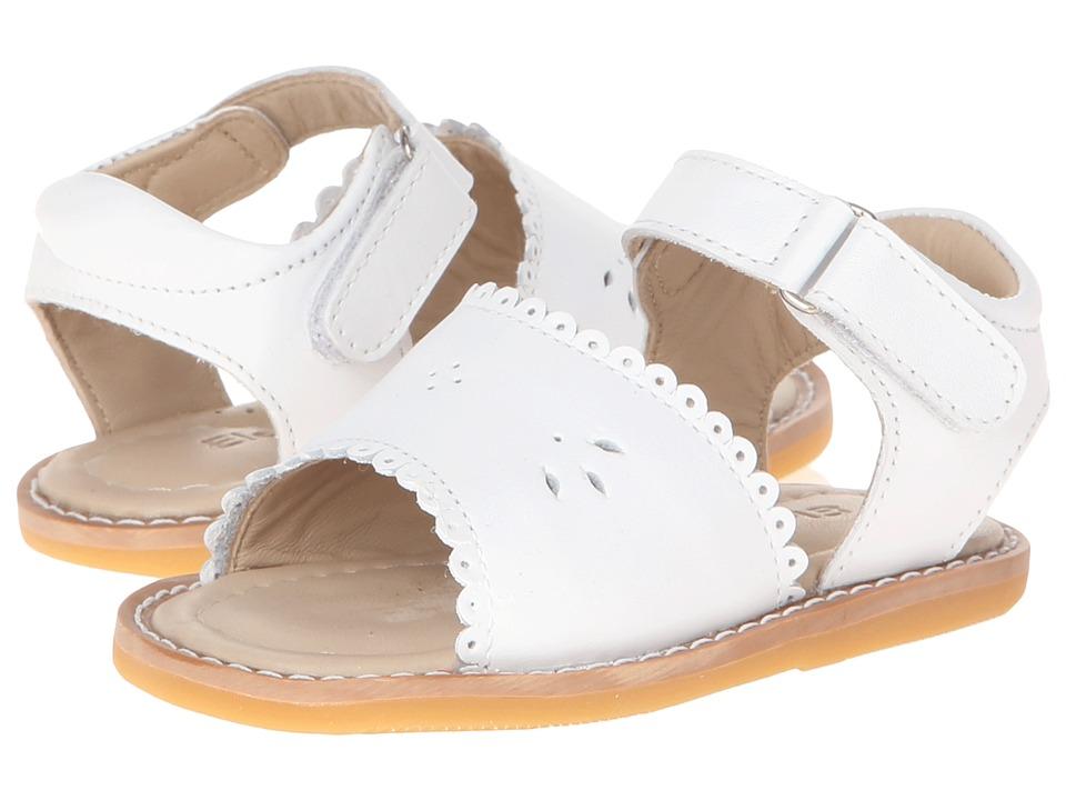 Elephantito Classic Sandal w/Scallop Toddler White Girls Shoes