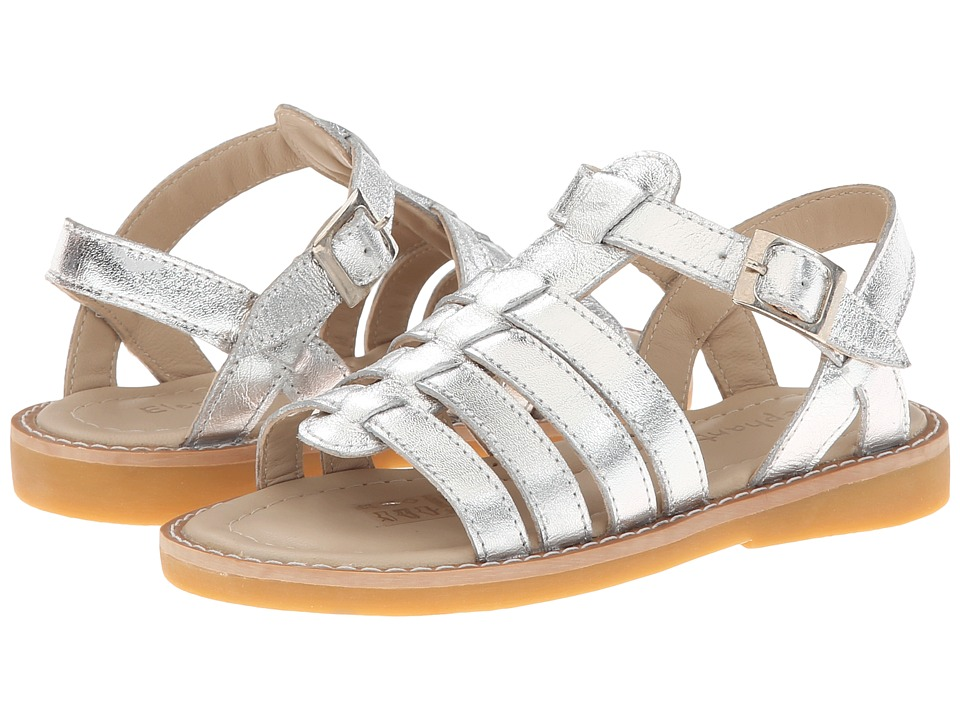 Elephantito Capri Sandal (Toddler/Little Kid/Big Kid) (Silver) Girl