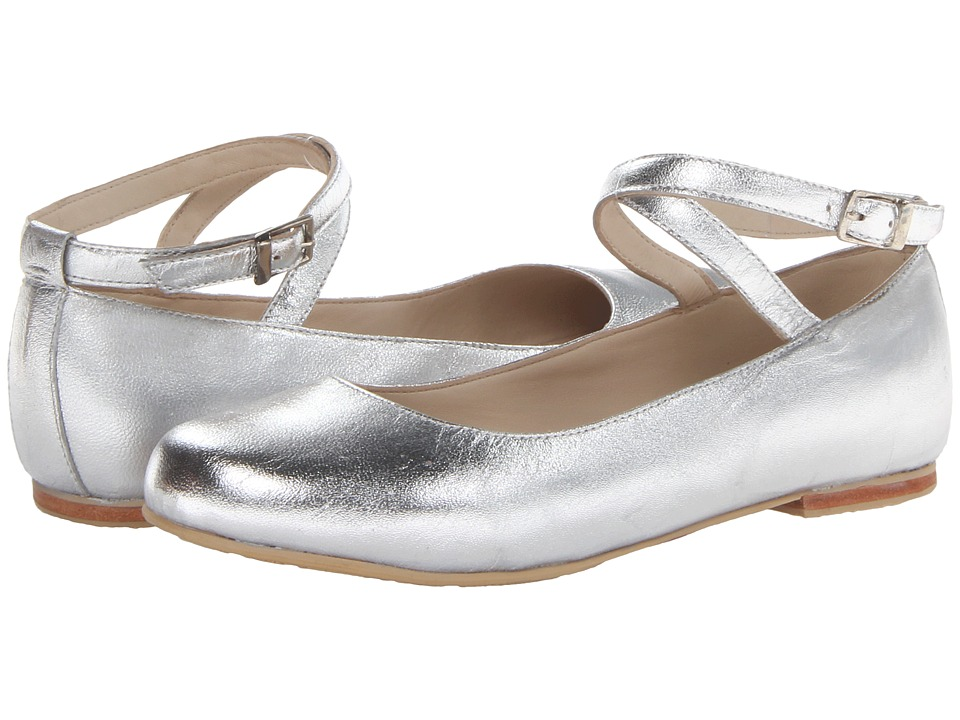 Elephantito French Ballet Flat Toddler/Little Kid/Big Kid Silver Girls Shoes