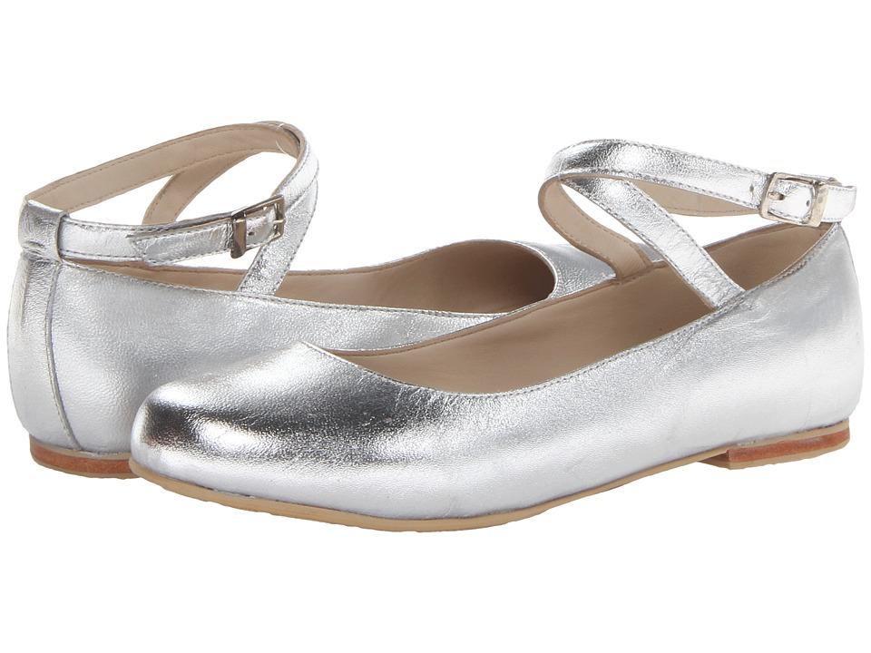 Elephantito French Ballet Flat Toddler/Little Kid/Big Kid Silver Girls Shoes