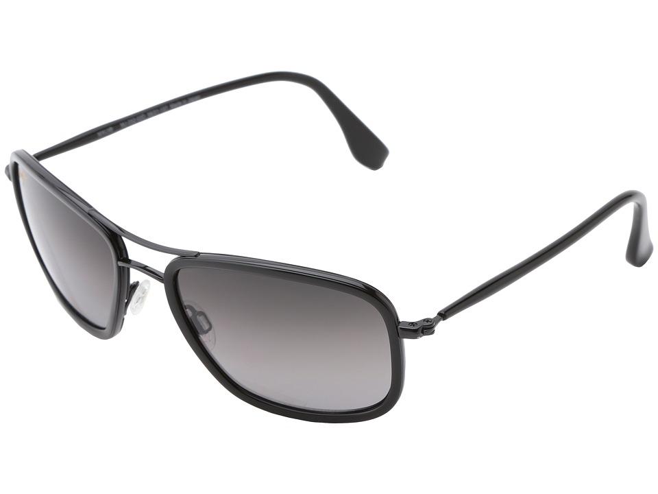 Maui Jim Hawaiian Time Gloss Black/Neutral Grey Sport Sunglasses