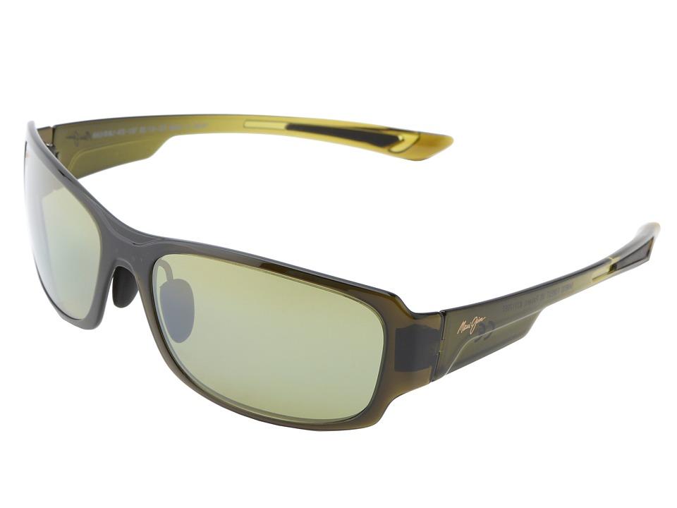 Maui Jim Bamboo Forest Olive Fade/Maui HT Sport Sunglasses