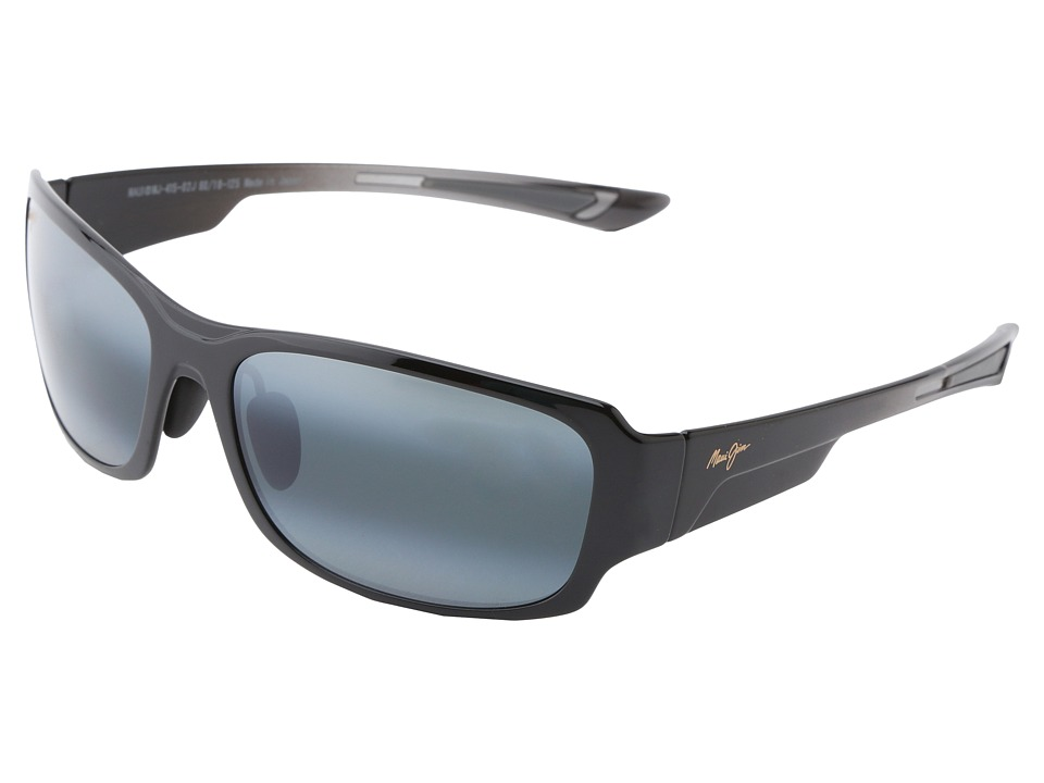 Maui Jim Bamboo Forest Gloss Black Fade/Neutral Grey Sport Sunglasses