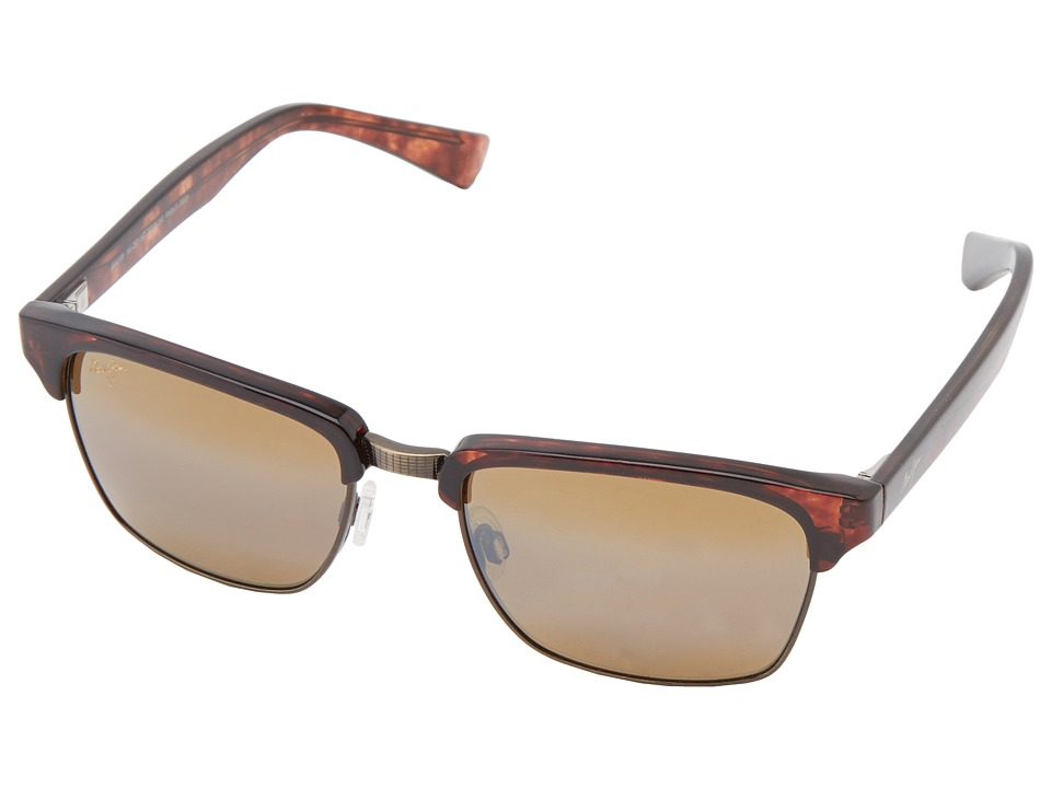 Maui Jim - Kawika (Tortoise w/ Antique Gold/HCL Bronze) Sport Sunglasses